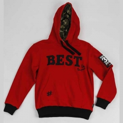 CVC FLEECE BOY'S HOODED SWEAT JACKET